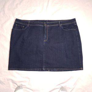 Old Navy Plus Size 30 Blue Denim Skirt Dark Wash